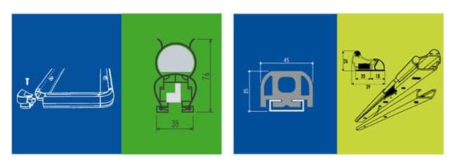 Dispositivi di sicurezza Aprisystem per cancelli automatici e porte portoni sezionali