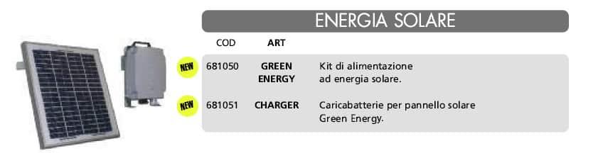Accessorio ad anergia solare per cancelli automatici e porte e portoni sezionali Aprisystem