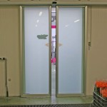Porte ad apertura automatica vetro opaco