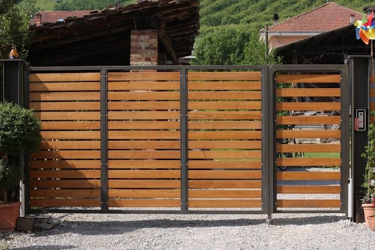Cancello In Ferro E Legno Saluzzo Aprisystem