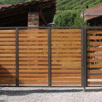 Cancello in ferro e legno Saluzzo